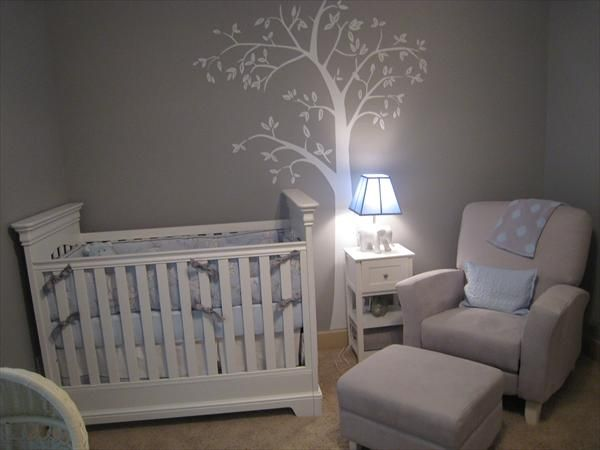 baby nursery gray i know you dont like wall stencils but this room - Baby Boys Room Ideas