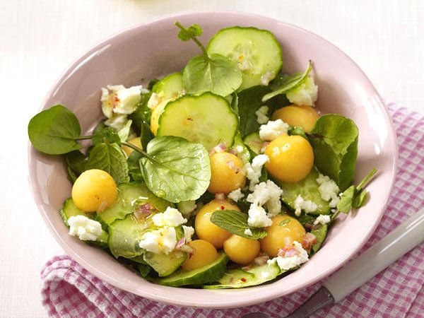Schnelle Salate - in 20 Minuten fertig! - gurke-melonen-salat  Rezept