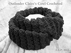 Free Crochet Pattern  Free Download - Outlander Claire's Cowl Crocheted