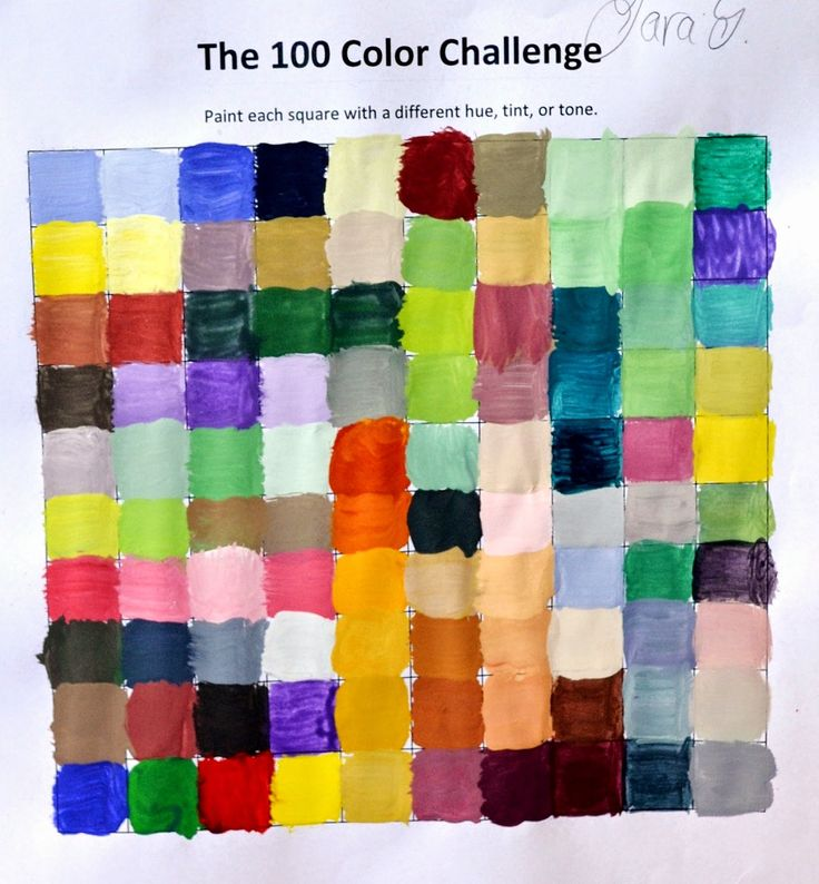 Color Mixing Challenge: Mix 100 Different Colors | Lessons from the K-12 Art Room