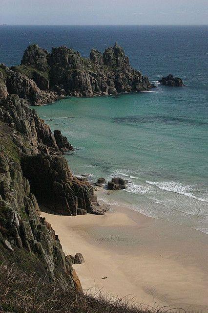 Cornwall... Porthcurno Beach. My favourite