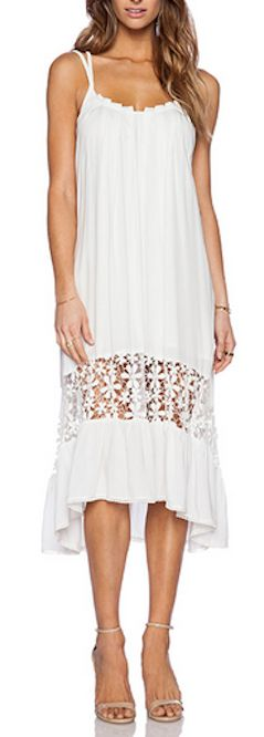 Cute dress with lace detail for summer
