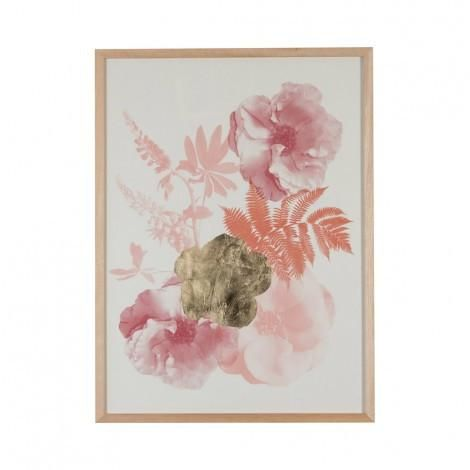Roses Paper Print in Buff Rust | Bonnie & Neil – Salt Living or online at www.saltliving.com.au #saltliving #bonnieandneil #screenprinting #linen #handmade #print #art