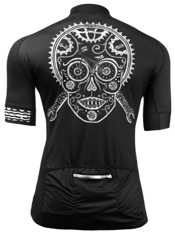 """Xmas gift idea for any mountainbikers in your life. """"Skull"""" is a cool new cycling jersey design from Cycology. All Italian fabrication. FREE SHIPPING WORLDWIDE. #cycling #jerseys"""