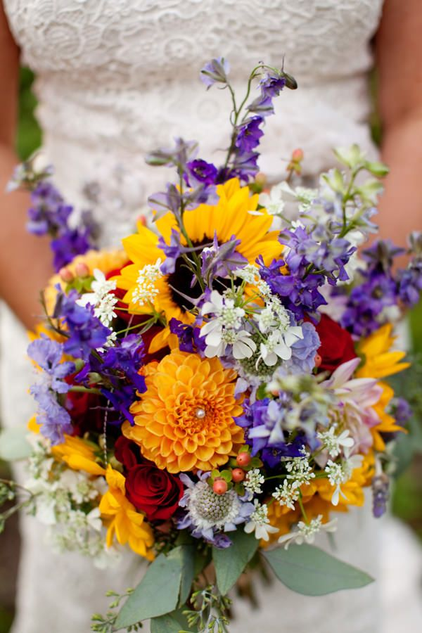 Love this Bouquet!  Kelsie and Andrew's 'Dream Come True' DIY Wedding Under $7,000 by Jeremy and Kristin
