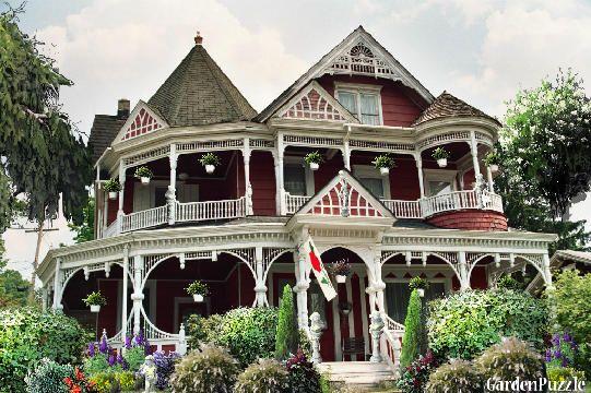 Queen anne victorian house escondido queen anne empire for Queen anne victorian