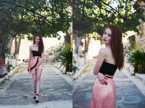 Yet an other gorgeous photo by Charoula Stamatiadou****Μια ακόμα υπέροχη φωτογραφία τηςCharoula Stamatiadou Photography. Η όμορφη κοκκινομάλλα Chloe φοράει φόρεμα Chrystal στα στενάκια της Πλακας : )
