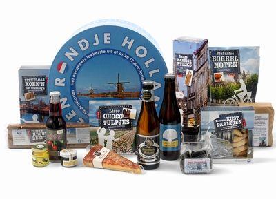 Rondje Holland * Unieke originele producten uit alle streken van Nederland * Aantal artikelen incl. doos:  16 * € 35,00 per pakket excl. BTW