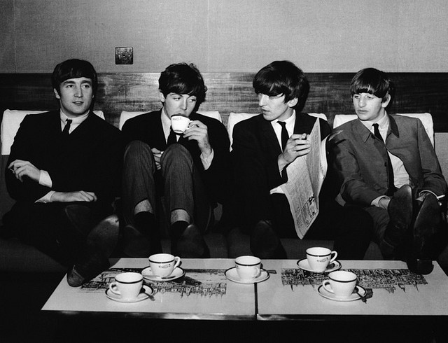 4th november 1963 the beatles take a break from their rehearsals for the royal variety