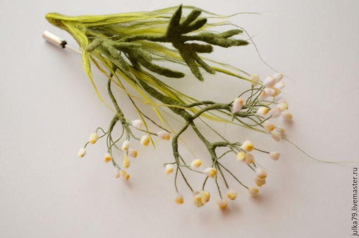 Купить Травушка муравушка - зеленый, брошь, травы, брошь травушка муравушка, брошь полевые травы