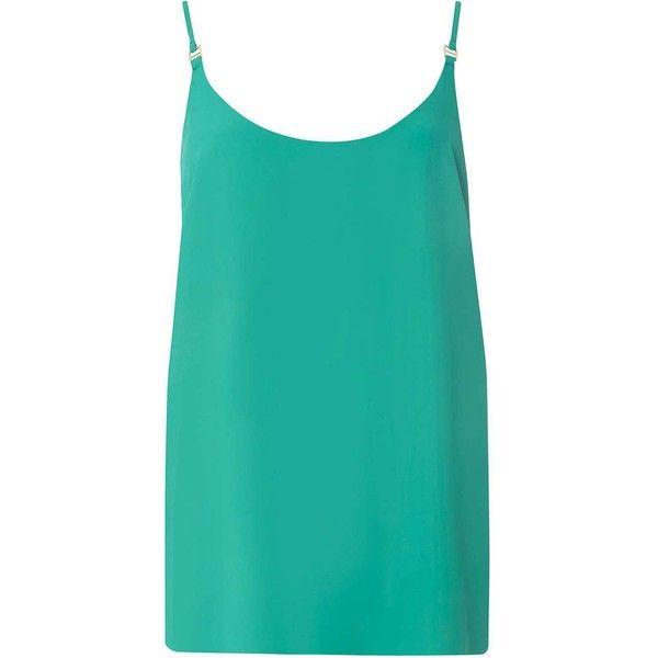 Dorothy Perkins **Tall Emerald Green Camisole Top ($22) ❤ liked on Polyvore featuring tops, green, green cami top, green cami, dorothy perkins tops, polyester camisole and emerald green tops