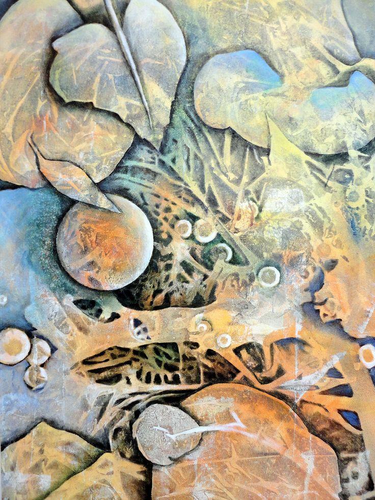 Bildausschnitt zu Acryltechniken kombinieren Nr. 6 Gerda Lipski YouTube: Gerda Lipski