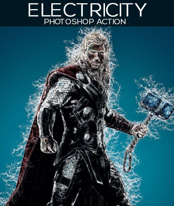 GraficAction | Electricity Photoshop Action