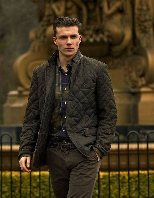 love me some barbour // menswear, fall style, quilted jacket