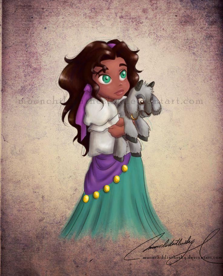 disney esmeralda | Princesas Disney versão criança → Esmeralda