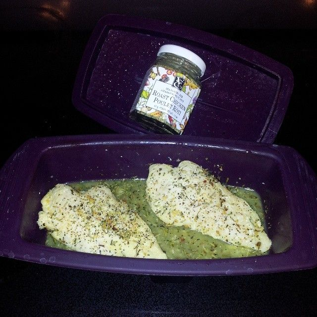 Mmm chicken breasts cooked in the Epicure silicone steamer with a splash of orange juice and Epicure's Roasted Chicken seasoning! #epicure https://saralynnhouk.myepicure.com