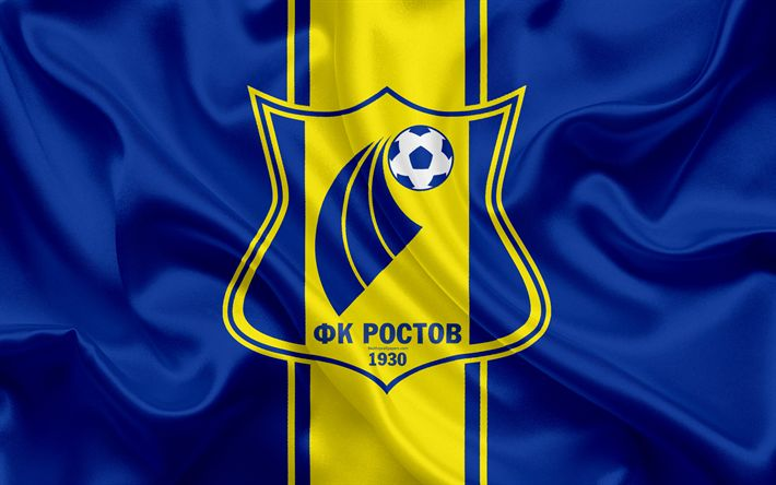 Télécharger fonds d'écran FC Rostov, 4k, russe, club de football, logo, Rostov, l'emblème, le championnat de football de russie, Premier League, le football, Rostov-sur-le-Don, Russie, drapeau de soie