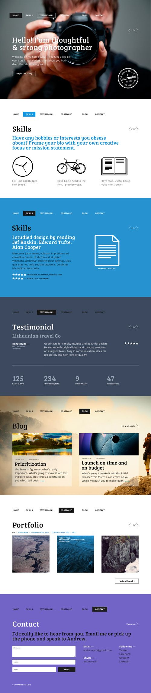 One Page Business Psd Templates | Design |
