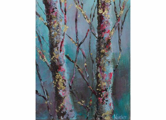 Winter Trees 3 Digital Artwork 8 x10 by TheSplatteredWall
