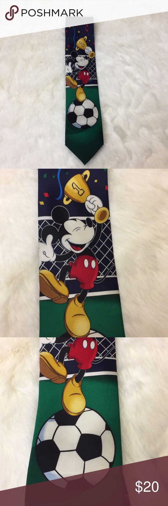 Mickey Unlimited Mickey Mouse Soccer Tie Like new. Mickey Unlimited Accessories Ties