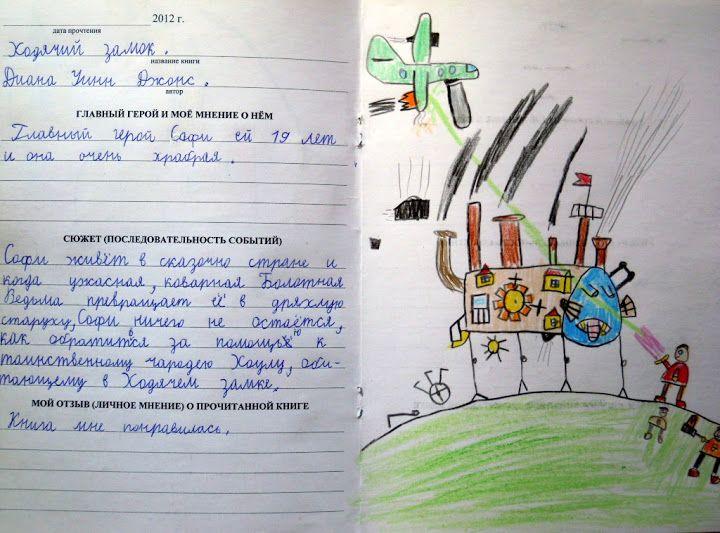 Дневник читательский класс 5
