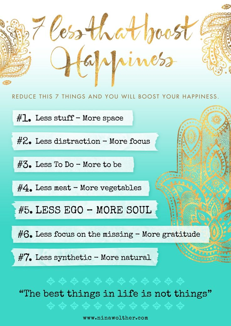 7 LESS that boost happiness | Nina Wolther