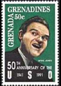 В 1991 году почтовая служба Гренады подготовила марок,   киноартист и певец Спайк Джонс