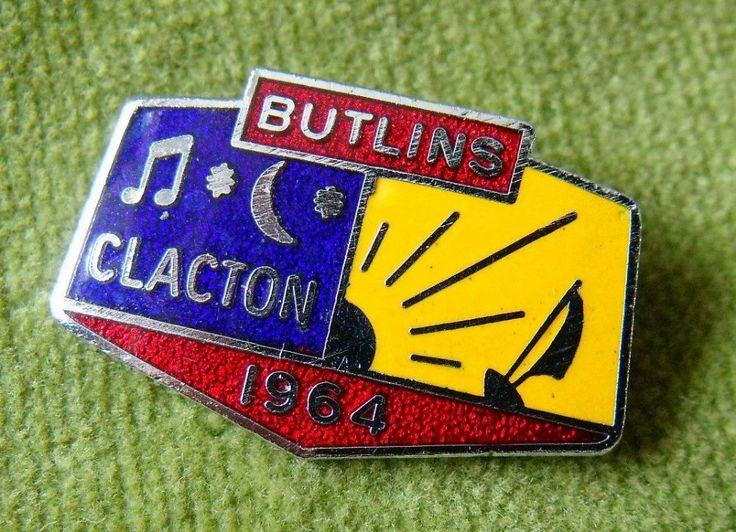 A Genuine Butlins Metal Enamel Clacton 1964 Pin Badge 2 8cm across metal and enamel in a good general condition Pin is in full working order Rear of