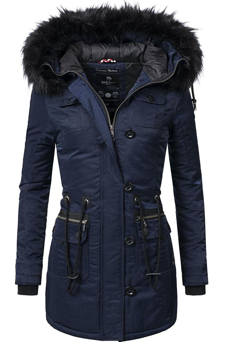 Mari itchykoo abrigo mujer abrigo de invierno invierno Parka Elle (Vegano) fabricado) 7colores + camuflaje XS-XXL azul Medium : Amazon.es: Ropa y accesorios