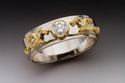 Gold Eternity Dragon Band with Diamond by martymagic on Etsy, $2800.00