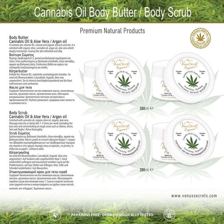 Cannabis Oil Body Butter / Body Scrub