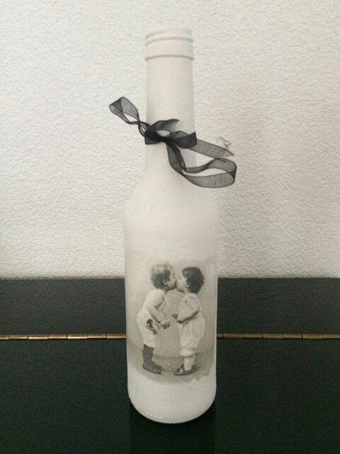 Gesso flessen met vintage servet