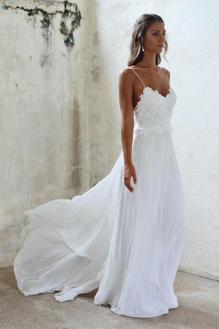 Vestidos blancos playeros elegantes