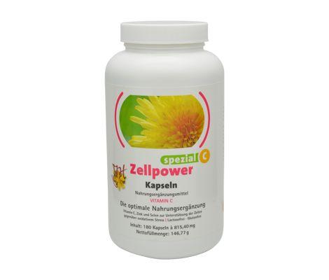 JCH Zellpower Spezial C is een lactose-vrij en glutenvrij voedingssupplement. | De Gezonde Bron, dé webshop voor natuurlijke verbetering van uw gezondheid.