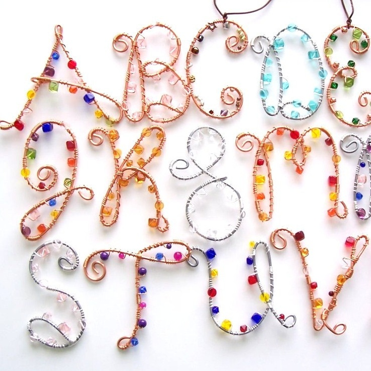 76 best wire letters images on Pinterest | Jewelry ideas, Jewelry ...