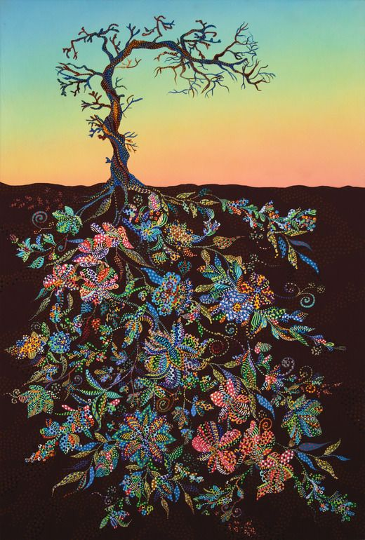 "Saatchi Online Artist: Erika Pochybova-Johnson; Acrylic, Painting ""Sunset""....great tattoo idea"