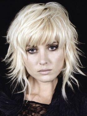 coiffure de couleur blond platine - Coloration Blond Blanc