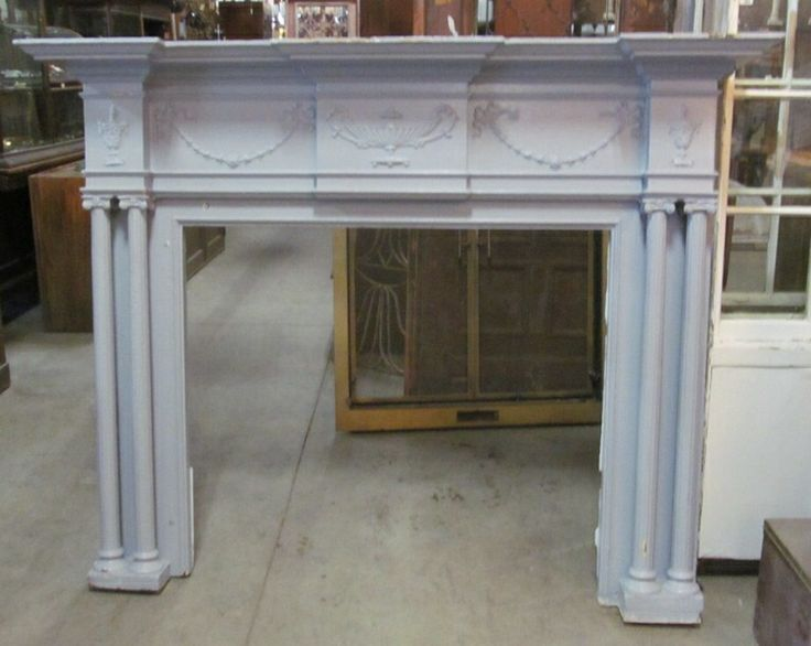 Georgian Style Mantel from Nor'East Architectural Salvage, can be turned into a headboard or used as an architectural element in a new home to add character