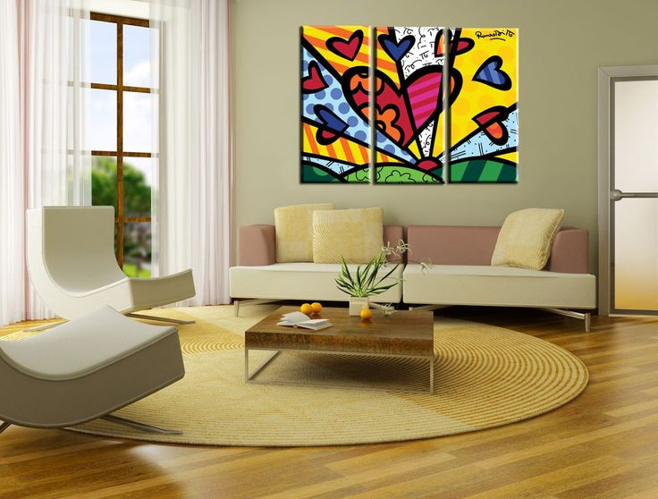 548 best images about romero britto on pinterest heart for Muebles pop art