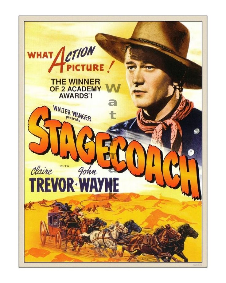 John Wayne Stagecoach #2 Vintage Movie Film Poster [4 sizes, matte+glossy avail] #Vintage