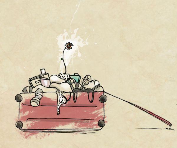"""La parola bella """"ODEPORICO"""" in un'illustrazione di Mariachiara Tirinzoni"""