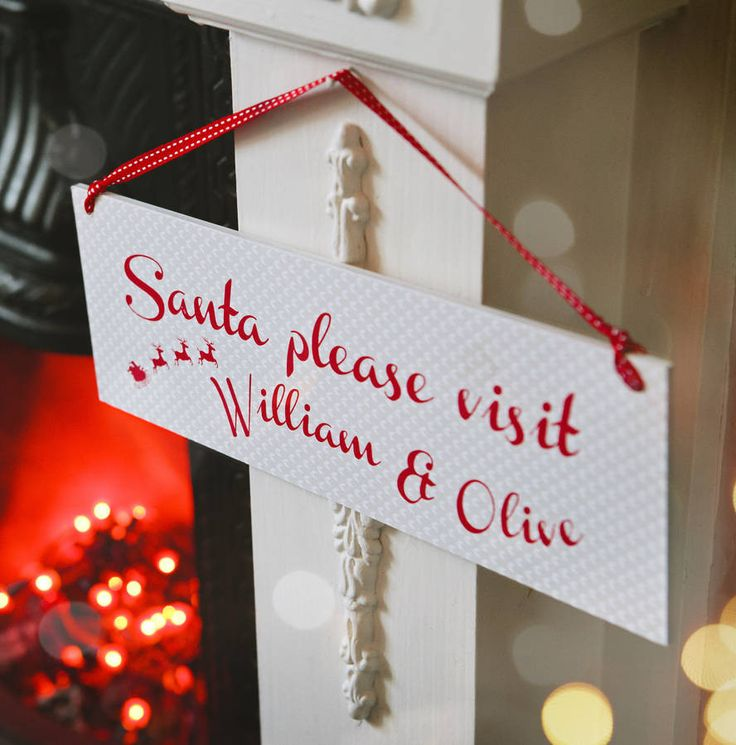 Personalised Santa Sign – Little Pieces