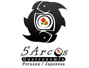 Logotipo diseñado para 5 Arcos. Restaurante.