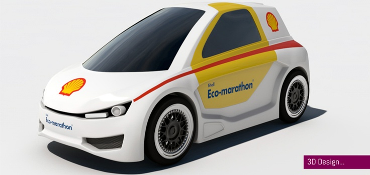 3d render for Shell Eco-Marathon