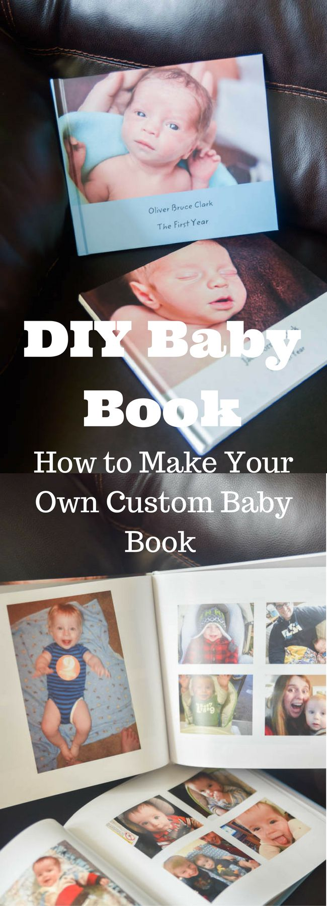 DIY Baby Book / Baby Book Ideas / DIY Baby Book Ideas / Baby's First Year / Make Your own Baby Book / Baby Book Page Ideas #ad