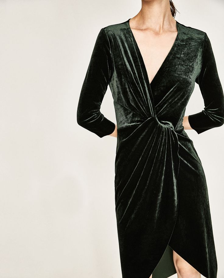 CROSSOVER VELVET DRESS-EVENING-WOMAN | ZARA Albania