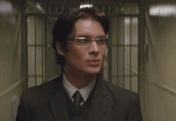 Cillian Murphy as Dr. Jonathan Crane/the Scarecrow in Batman Begins.