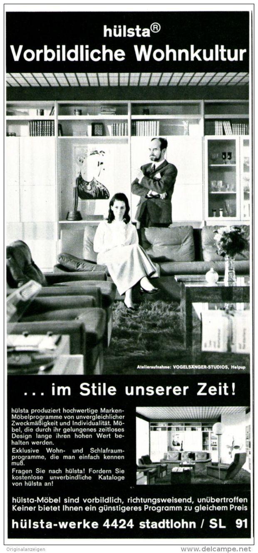 Original-Werbung/ Anzeige 1969 - HÜLSTA MÖBEL - STADTLOHN - ca. 110 x 240 mm