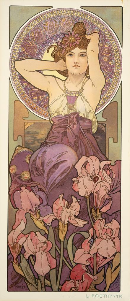 The Precious Stones: Amethyst, 1900 - Alphonse Mucha