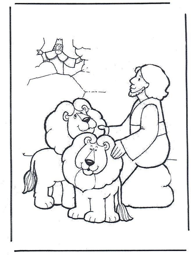 Picture Coloring Daniel And The Lions Den Pages With